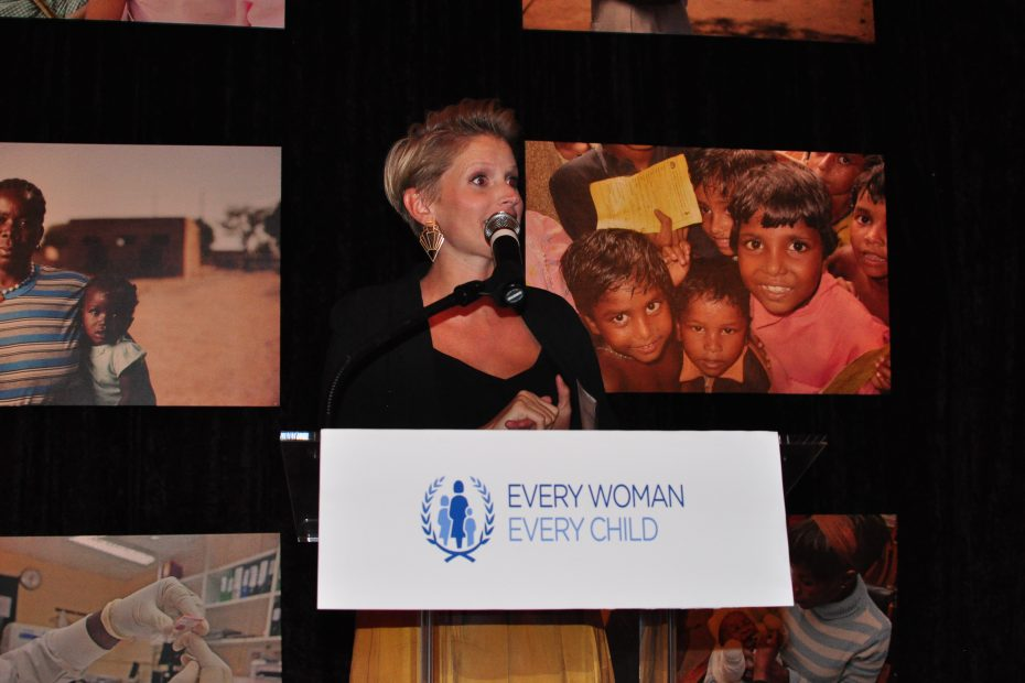 Julia Wiklander speaking at Every Woman Every Child